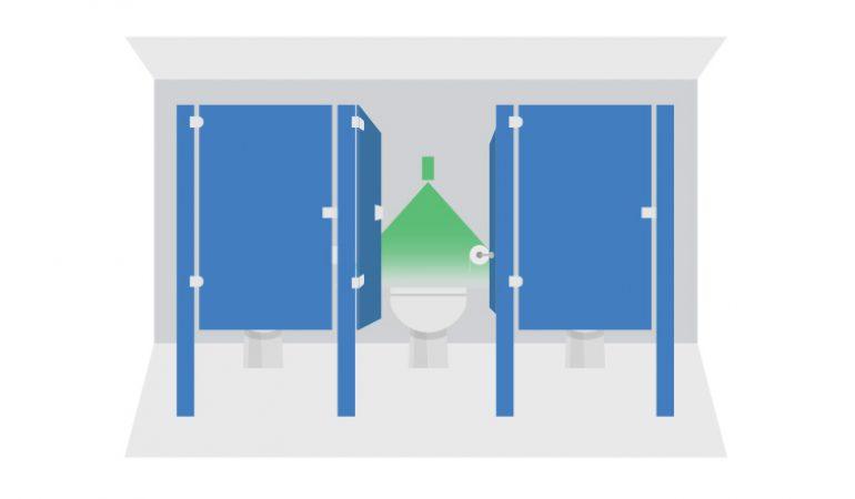 Cubicle occupancy sensor