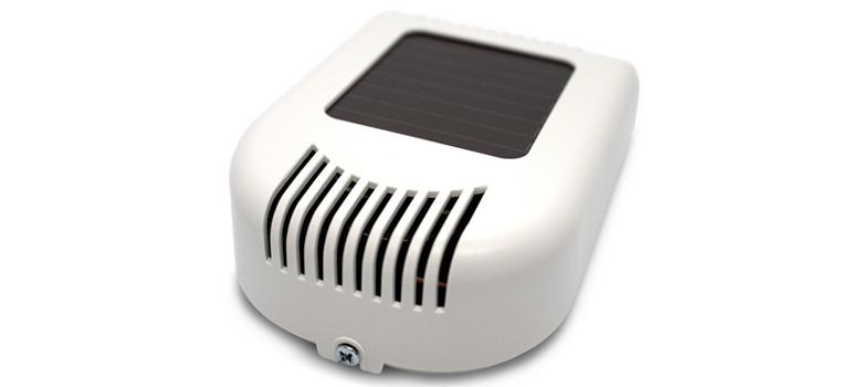 Solar powered CO2, temperature and humidity sensor