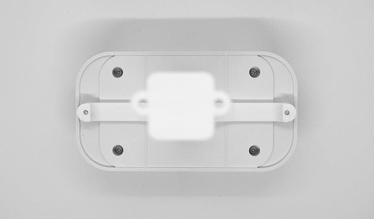 Wireless people flow sensor with monuting bracket - back view