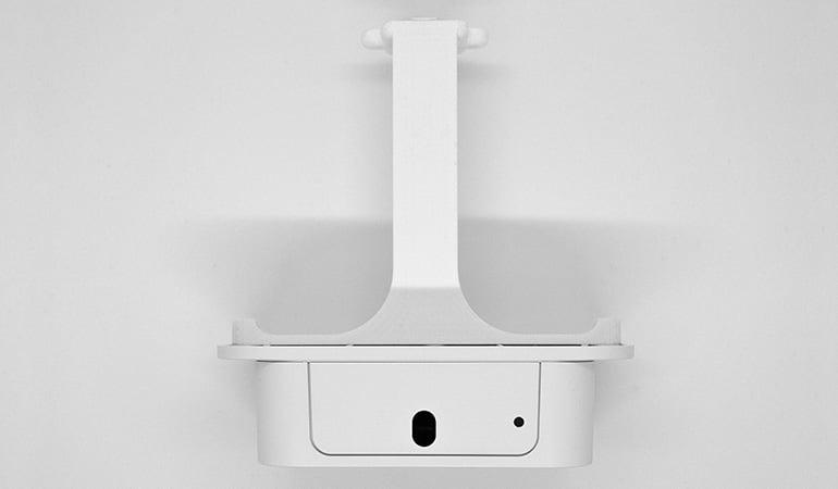 Wireless people flow sensor with monuting bracket - bottom view