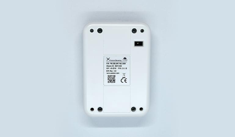 Wireless table occupancy sensor bottom view